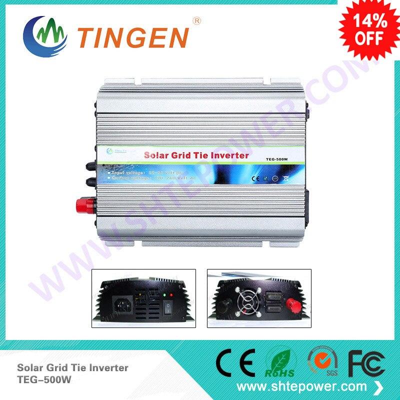 500 W micro MPPT sur grille cravate onduleur DC 10.8-28 V panneau solaire 110 V 220 V sortie solaire onduleur DC 12 V 24 V
