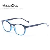 Reading Glasses Classic Retro Vintage Style Rond Frame Eyewears Men Women Flexible Temple Presbyopia Glasses