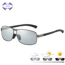 VCKA Novos Óculos Polarizados Óculos De Sol Dos Homens Óculos Descoloração óculos  de Sol Fotocromáticas Camaleão Liga HD Óculos . 71d2daf184