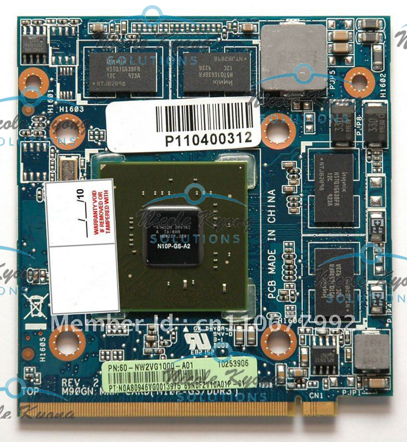 M90GN GT 240M N10P-GS-A2 1GB DDR3 MXM II VGA Card Video card for Aspire 5920G 8930 8930g 6930 6930g