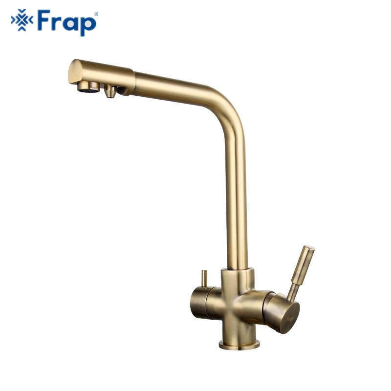 Frap Bronze antique tall Kitchen sink Faucet drinking water tap mixer with Water Purification Features Double Handle F4352-4 old antique bronze doctor who theme quartz pendant pocket watch with chain necklace free shipping