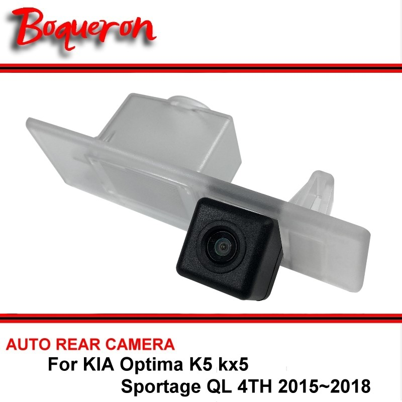 For KIA Optima KIA K5 kx5 Sportage QL 4TH 2015~2018 Car Reverse Backup HD CCD Rearview Parking Rear View Camera Night Vision car trunk curtain cover special for kia sportage 2016 2017 2018 ql 4th generation