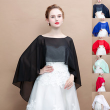 все цены на Soft Chiffon Women Cape High Low Sheer Summer Beach Wedding Wrap Bridal Bridesmaids Cover Up Shawl онлайн