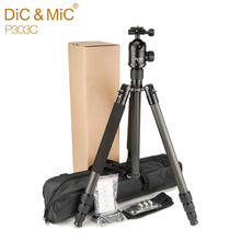 DiC&MiC tripe P303C Professional Carbon Fiber Tripod Monopod For DSLR Camera stand for tripode Max Height 175cm