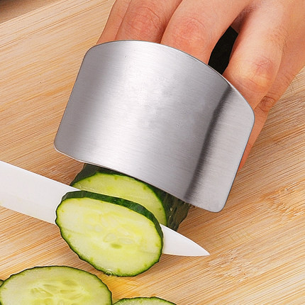 High Quality Safe Slice Stainless Steel Finger Guard Vegetables Kitchen Knives Armguard tool Creative Kitchen accessories tools
