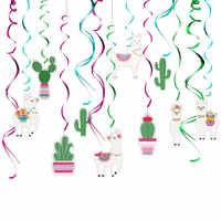 30 Uds. Decoraciones espiral de colgar Cactus Llama, suministros de fiesta de cumpleaños temática Llama, Alpaca boliviana de Perú