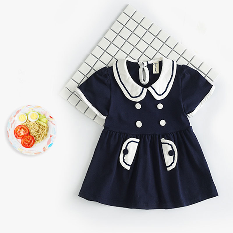 Brand Summer Fashion Dresses for Girls 2017 Casual Baby Dress Princess Party Hollow Toddle Dresses Children Kids Summer Clothes