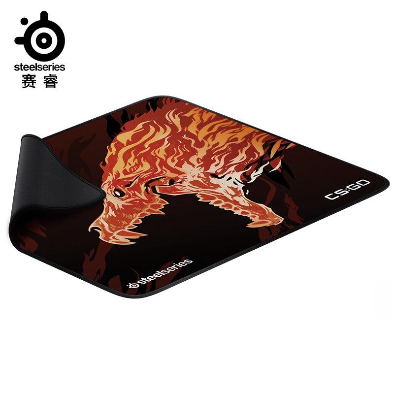SteelSeries QcK + CS: GO Howl Roar PUBG édition limitée jeu tapis de souris coussin compétitif Table coussin antidérapant épaississement