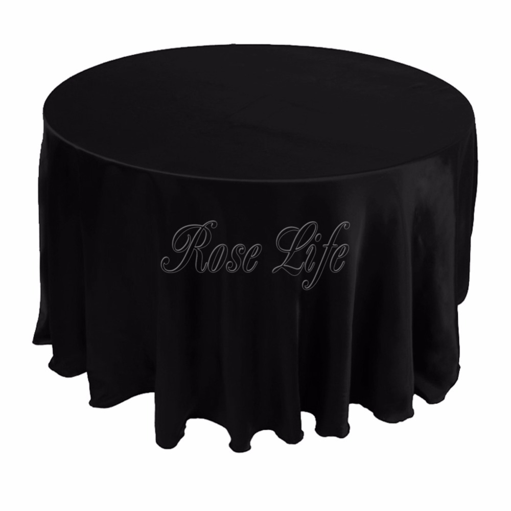 10pcs lot white black 120 table cover round satin for 120 round table cover