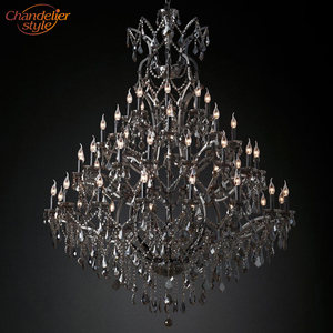 Image 5 - 19th C. Rococo Iron & Crystal Chandelier Lighting Modern Retro LED Chandeliers Pendant Lamp Hanging Light for Living Dining Room