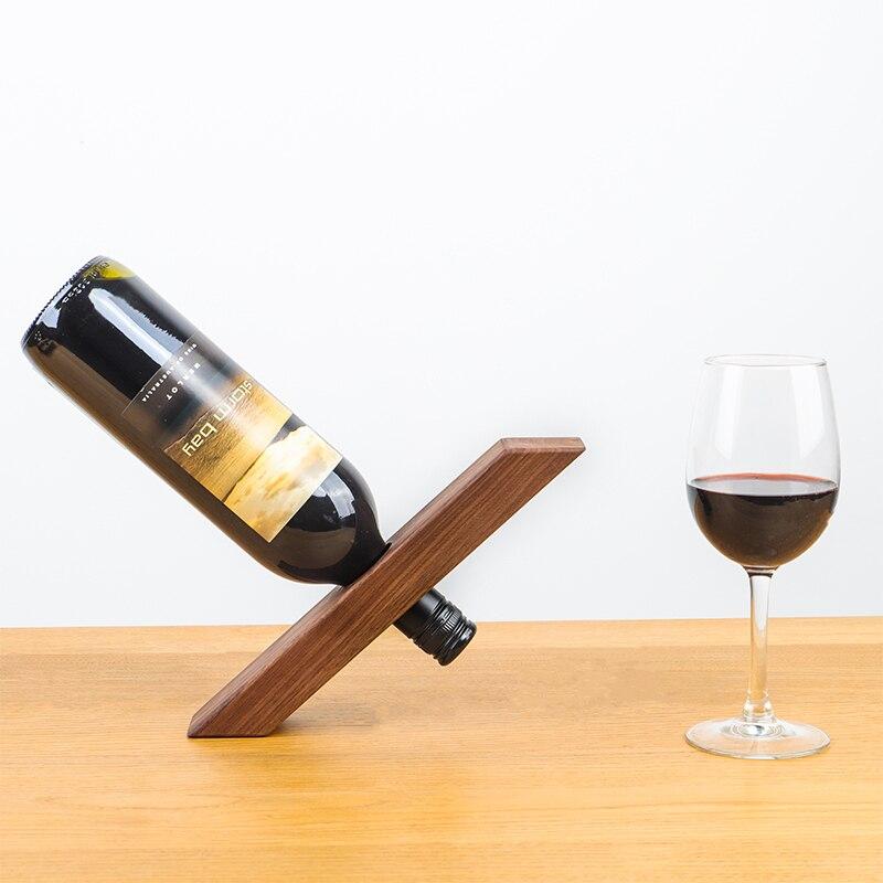 Solid Wood Japan Styl Balanced Wine Rack Walnut Wine Cabinet Living Room Decoration Household Oak Wine Bottle Bracket Wine Racks Aliexpress
