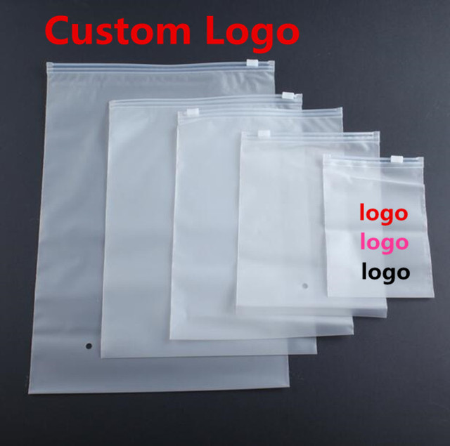 500pcs Lot Clear Self Seal Zipper Plastic Bags Retail Packaging Clothes Storage Bag For T