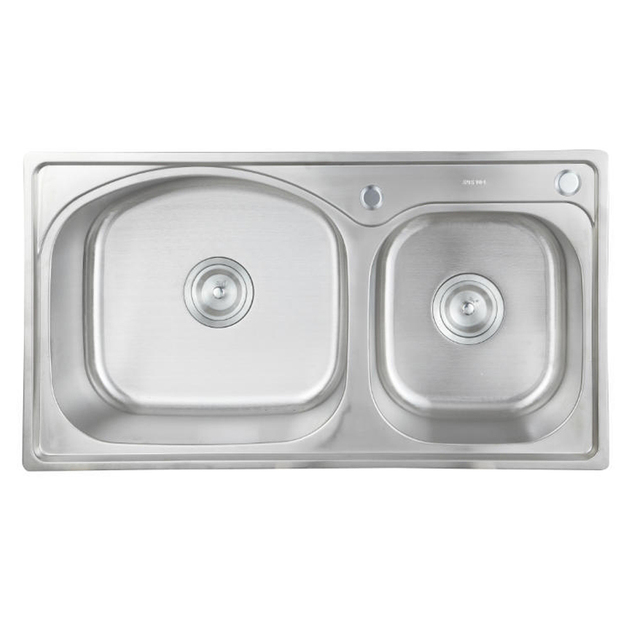 Stainless steel kitchen sink sets, brushed, Thicken, Double bowl ...