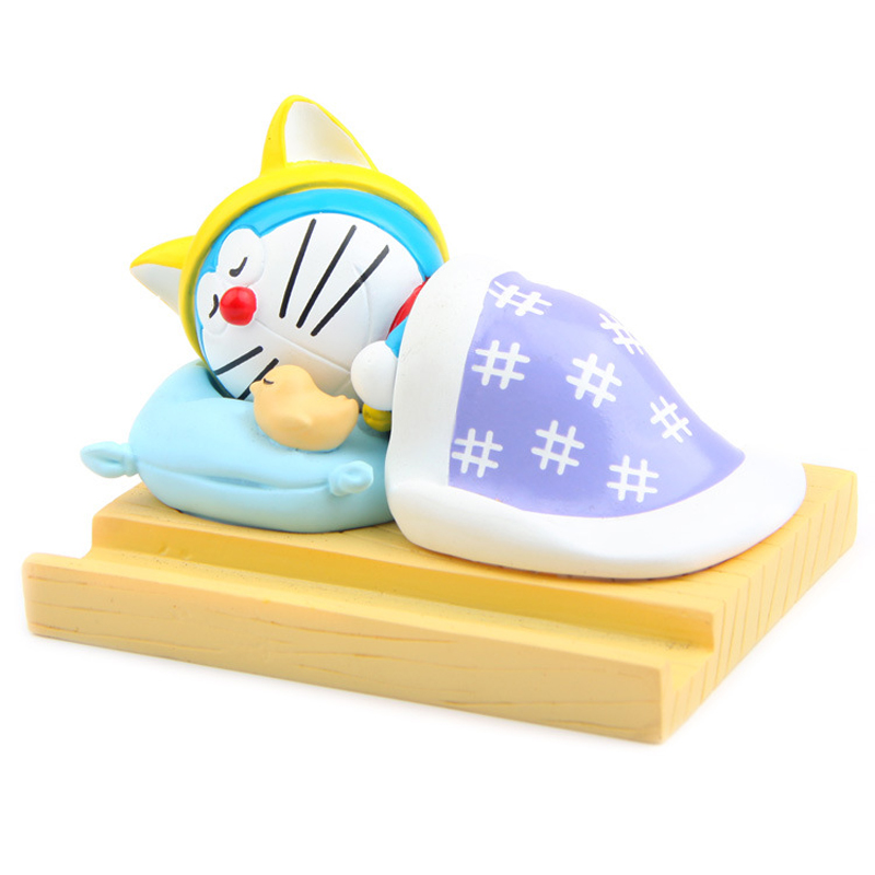 1pcs Japanese Animated Movie Doraemon Figures Toys Cell phone stand PVC Action Figures Toys Gifts for Kids Children image