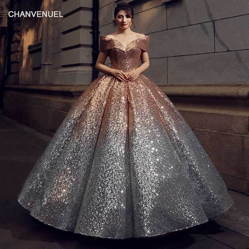 fc091b02c3f RSM66536 floor length puffy shiny evening dress with glitter sweetheart  lace up back pleat evening party