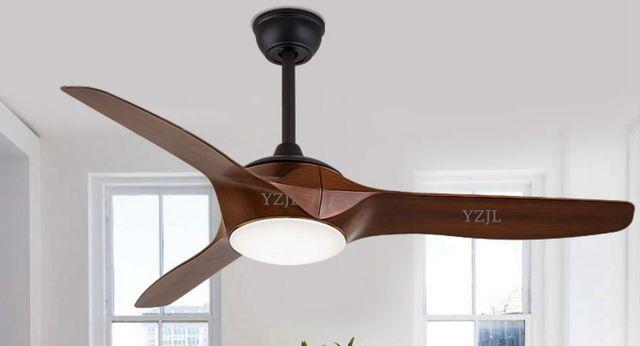 Remote control Fan light Fan chandelier living room bedroom fan chandelier fan lighting Nordic home American retro lights