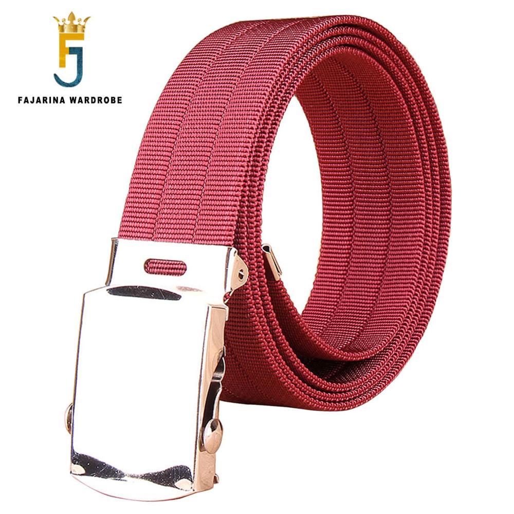 FAJARINA Good Quality Unisex Casual Canvas Belt for font b Men b font Blue Red Fashion
