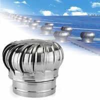 Ventilateur de toit en acier inoxydable éoliennes ventilateur de grenier de ventilation d'air 150mm 200mm