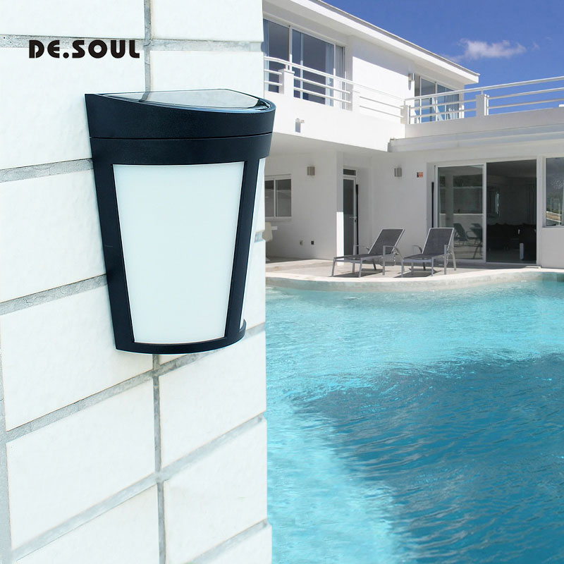 DE. SEELE LED Solar Power Wand Licht Im Freien Wasserdichte Solar Lampen Energie Saving Street Yard Pfad Home Garten Sicherheit Lampe