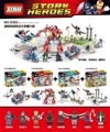 4 sets X302 Capitán América 3 Guerra Civil Spider-Man Iron-Man She-Hulk Hawkeye Winter Soldier bloques de figuras Juguetes legao