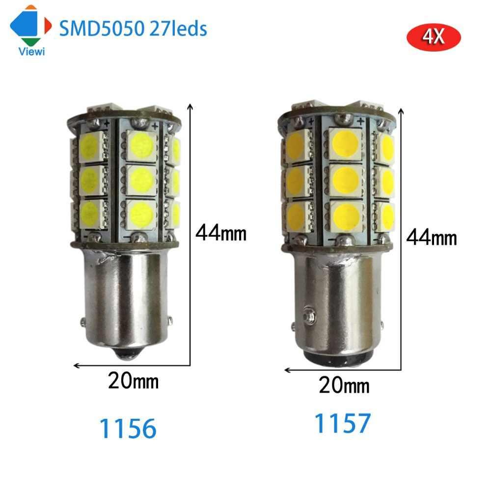 Detail Feedback Questions About 4x E10 Led Bulb Lights 1w Dc 6v 12v Festoon Base Bulbs Car Light Super Bright Leds Viewi 4pcs Lampada 1156 1157 Canbus Signal 5050 27
