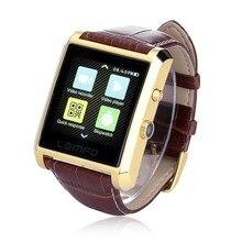 Bluetooth Smart Watch Smartwatch Luxus Leder IPS Business Armbanduhr für iPhone & Samsung Android Telefon DM08