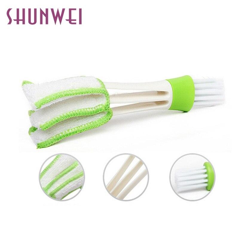 Car-styling SHUNWEI Car Cleaning Keyboard Brush Washer Limpeza Automotiva Keyboard Supplies Versatile Vent Cleaning Brush td10(China)