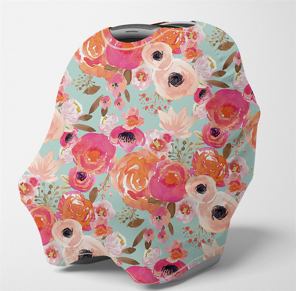 Baby Nursing Cover  Multi Use Breastfeeding Scarf-Baby Car Seat Covers, Infant Stroller Cover, Carseat Canopy For Boys And Girls