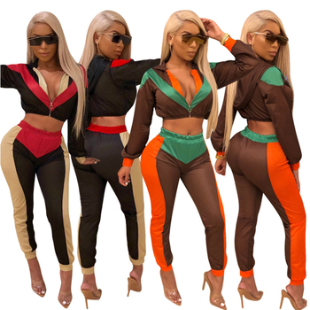 Women Two Piece Set Female Tracksuit Hooded Jacket+Long Legging Pants Ladies Long Sleeve Outfit Femme Sporting Suits Sweat suit