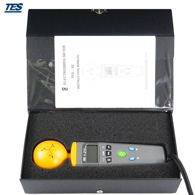 TES-92 Triaksiaalne Andmeloger Elektromagnetilise kiirguse - Mõõtevahendid - Foto 3