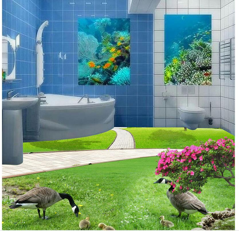3D stereoscopic grass floor living room kitchen pvc self-adhesive wallpaper Home Decoration waterproof wall murals 3d stereoscopic stone water 3d wall murals wallpaper floor 3d wallpaper floor for living room home decoration