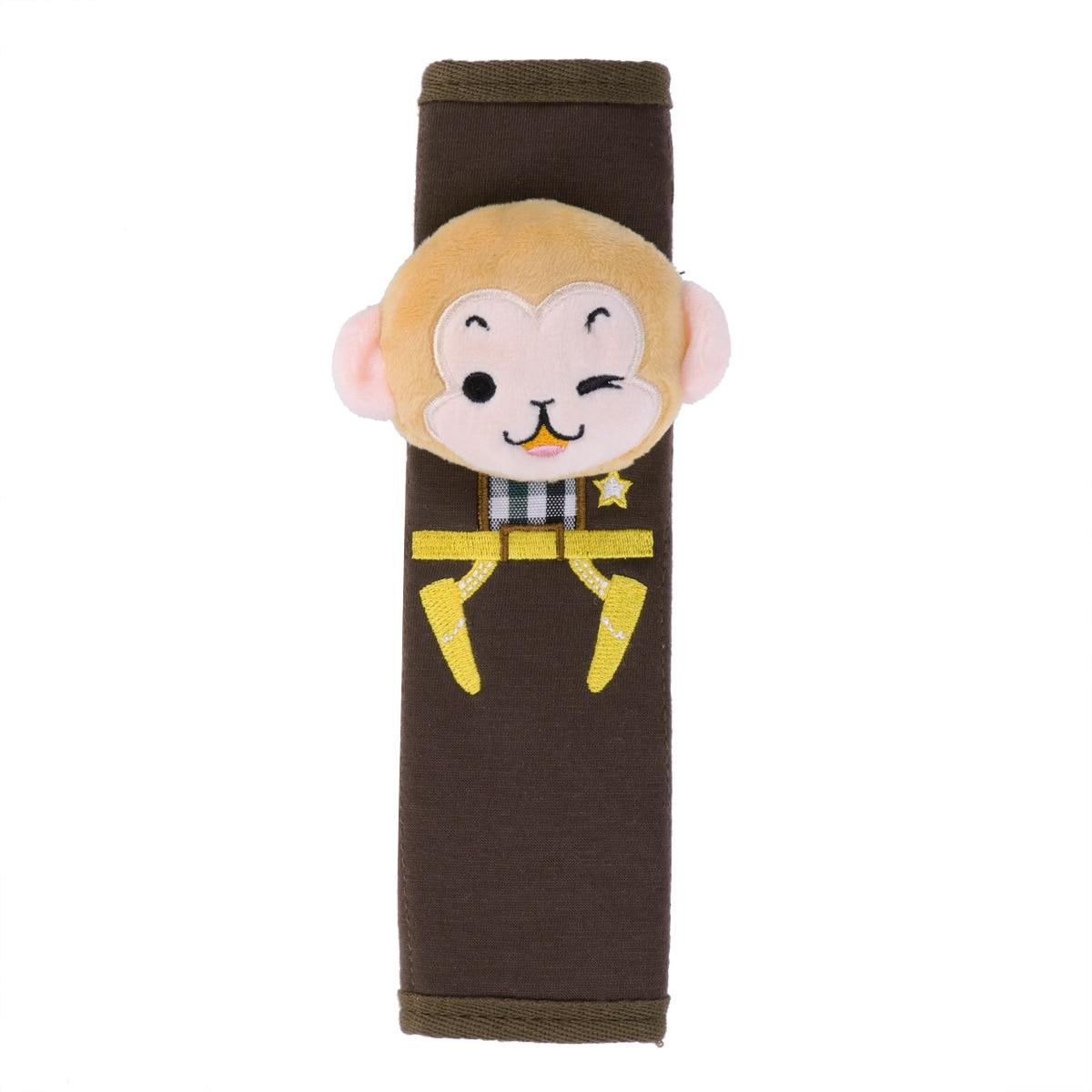 Auto Car Seat Belt Cover Soft Seat Shoulder Pad Cushion Seatbelt Strap Cover(Monkey pattern)