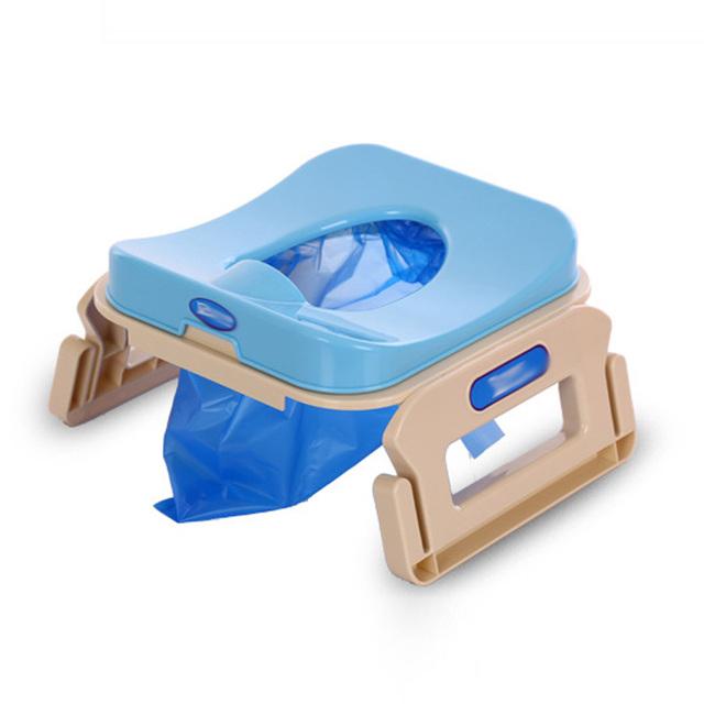 3 Cores Viajar Veículo Multifuncional Infantil Crianças Potty Higiênico Mictório Crianças Bebê Dobrável Confortável Portátil Higiênico Criança