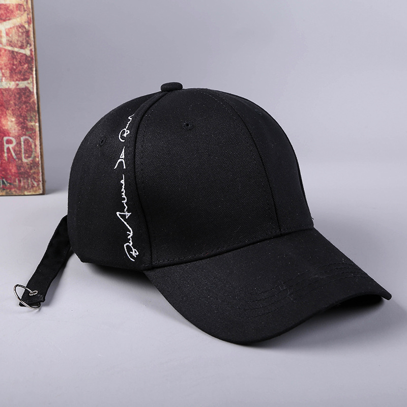 2019 Spring And Summer New Side Embroidered Letter Men And Women Hat Baseball Cap Creative Long Belt Concealed Dome Snapback