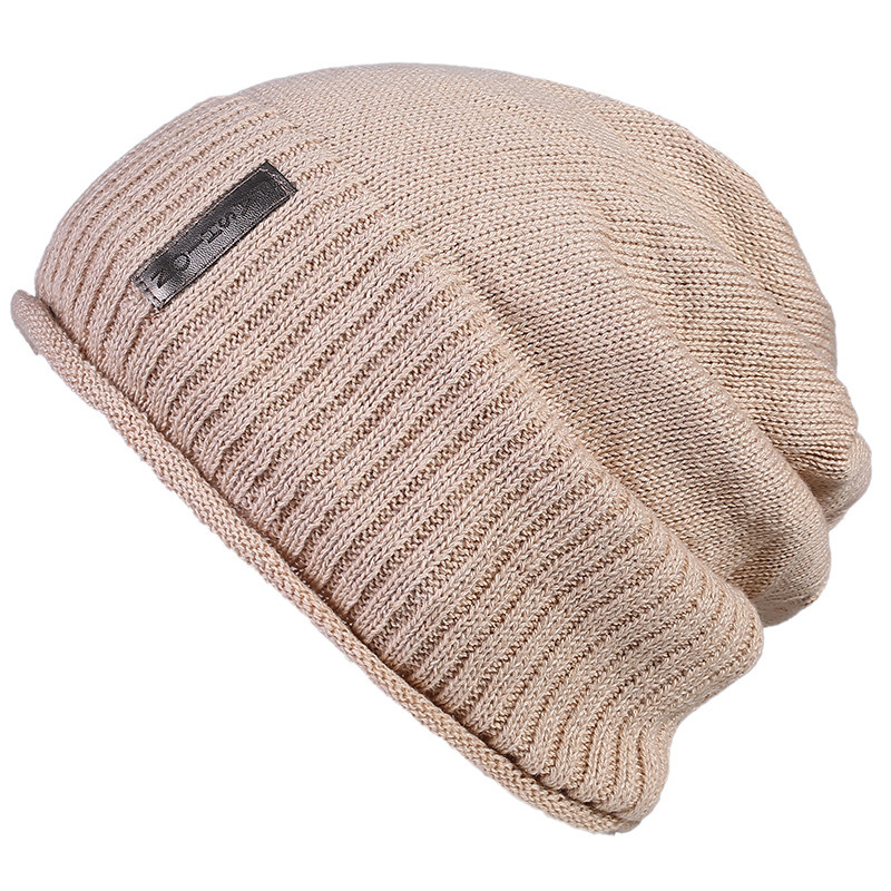 Solid Design Skullies Bonnet Winter Hats For Women Men Beanie Men's Faux Fur Warm Baggy Knitted Knit Winter Snow Hip Hop Cap skullies