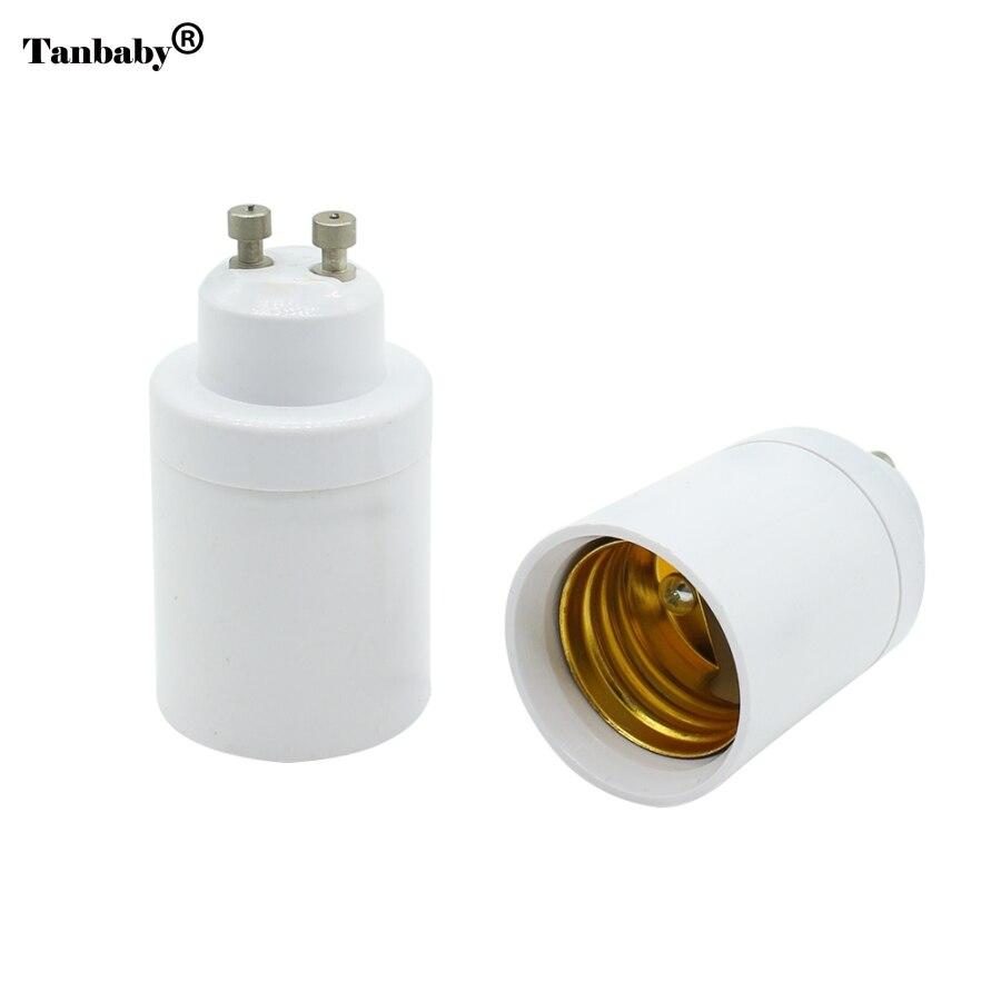2Pcs GU10 to E27 Base LED Light Lampbase Bulbs Adapter Adaptor Socket Converter Plug Extender