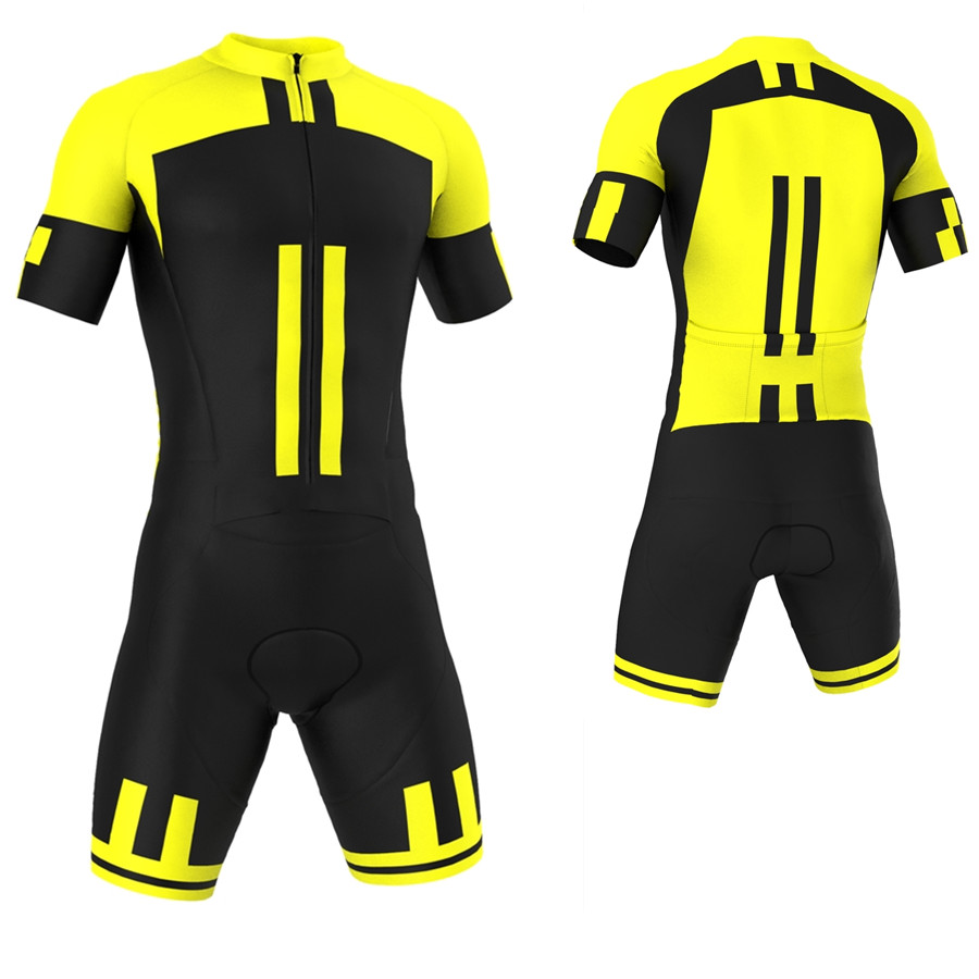 Men Short Sleeve Jumpsuit Triathlon Suit Ropa Ciclismo Maillot Quick Dry Cycling Jerseys kit Cycling Skinsuit
