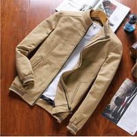 2017 Spring And Summer Fashion Mens Jacket Plus Size Casual Khaki Coat Men Classic Outerwear Zipper