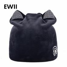 Black beanie hat women winter knitting hats for women skullies girl velvet rhinestone cap women soft beanies caps slouchy bone все цены