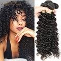 Глубокая Волна Девы Мокко Волосы Вьющиеся Перуанский Девственных Человеческого Волоса Afro Kinky Вьющиеся Weave 3 Пучки Волос, Плетение Человеческих Волос переплетения