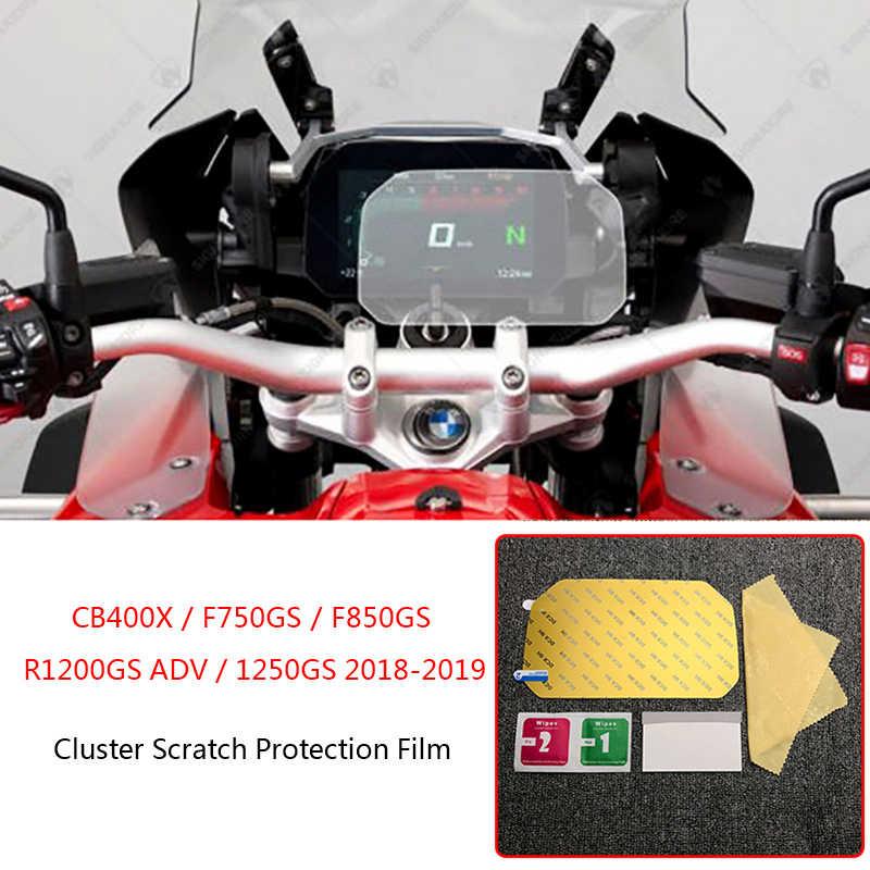 ل BMW R1200GS ADV مغامرة F850GS F750GS CB400X R1250GS 2018 2019 دراجة نارية العنقودية خدش طبقة حماية واقي للشاشة