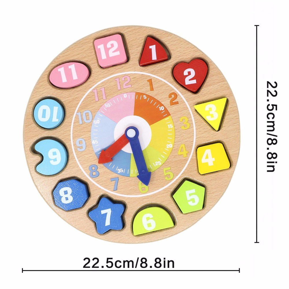 Wooden Educational Toys Number Animal Shapes Sorting Teaching Clock Lacing Beads Games Jewelry Making for Kids