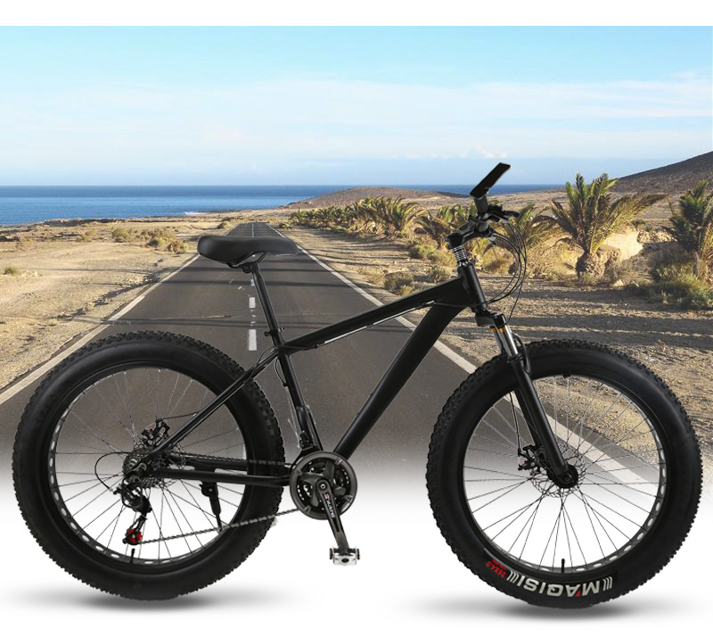 wolf's fang Mountain Bike 21/24Speed bicycle Cross-country Aluminum Frame 26x4.0 Fat bike Snow road bicycles Spring Fork Unisex
