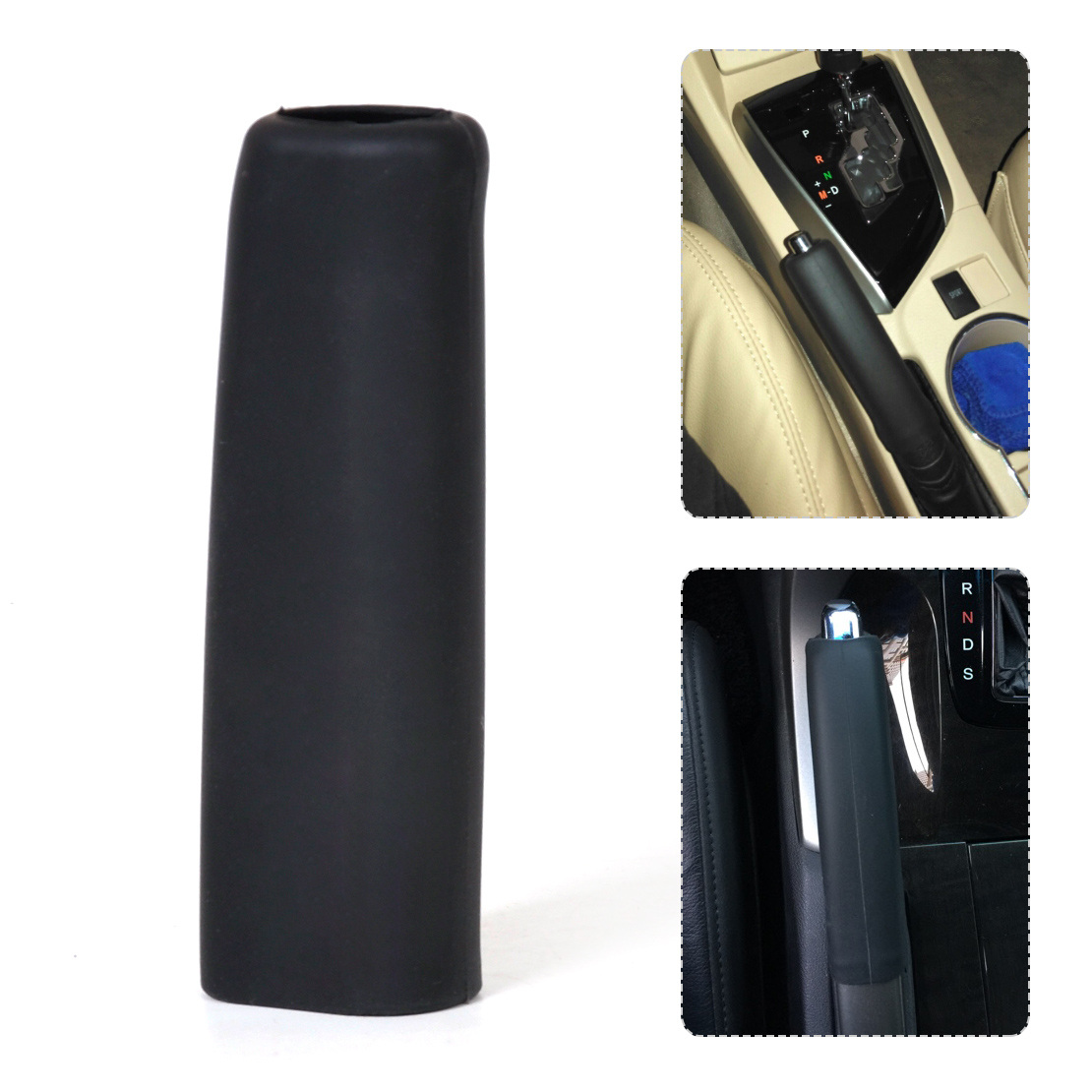CITALL Car Auto Silicone Gel Anti Slip Parking Hand Brake Cover Case Sleeve Black For VW Golf Beetle Audi A4 A6 BMW X3 X5 X6
