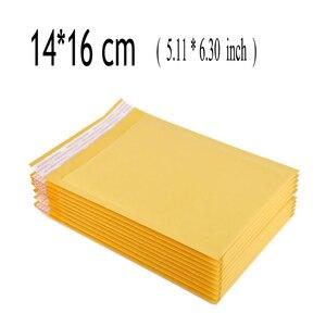 14*16 cm (5.11*6.30 cal) 100 sztuk Kraft koperta bąbelkowa, pęcherzyk powietrza kolorowe torebki wysyłkowe listwy wysyłkowe z polietylenu koperty do pakowania prezentów