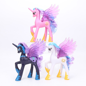 Image 3 - 22cm My Little Pony Toys Princess Celestia Glitter Luna Rainbow Dash Princess Cadance PVC Action Figures Collectible Model Dolls
