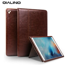 Qialino For iPad air 2 Tablet Wallet Case Genuine Leather Flip Stents Dormancy Stand Cover for Funda iPad Pro 9.7 air2 Case Skin