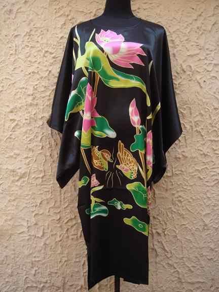 ホット販売グリーンレディースローブ春中国女性レーヨンパジャマ緩いバースガウンナイトガウンクジャクワンサイズ Mujer スパースター S4020