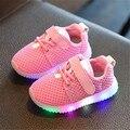 Sneakers luminosas Crianças Iluminar Sapatos Crianças Chinelos Levaram Sapatos Da Criança Do Bebê Meninos Meninas Sapatos Tamanho 21-25