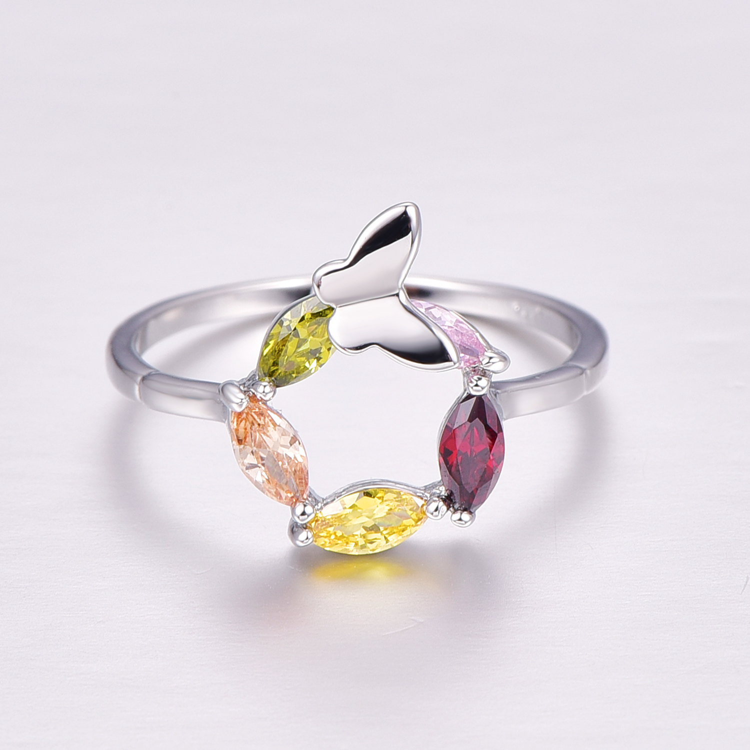 Lingmei Female Multi Color Ring wedding ring Fashion t jewelry